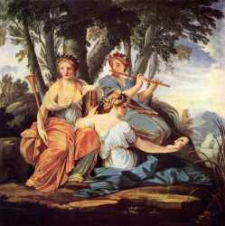 Clio, Euterpe, and Thalia